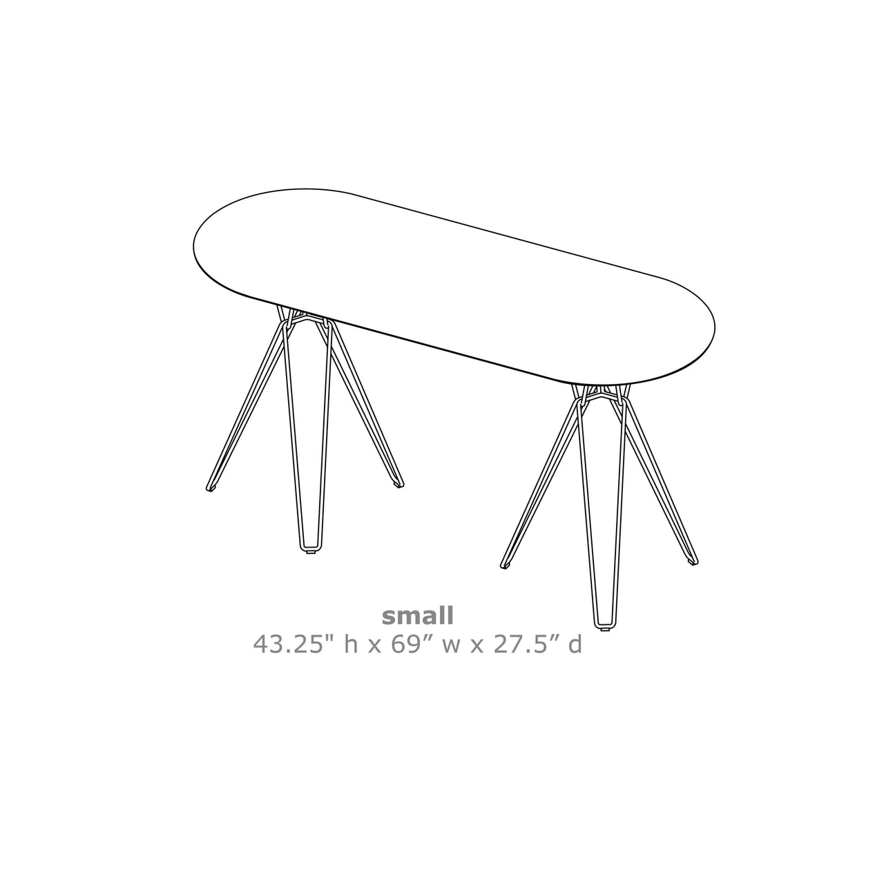 Tio Oval High Table