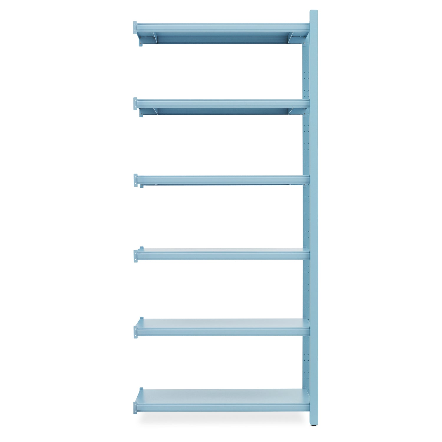 Work Bookcase: High + 2 Pillar + Powder Blue