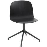 Visu Wide Chair: Swivel Base + Black + Black