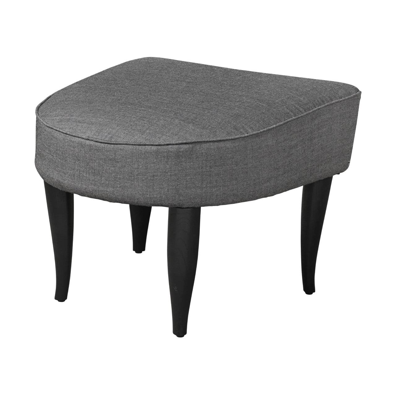 Fig Leaf Ottoman: Black Stained Oak