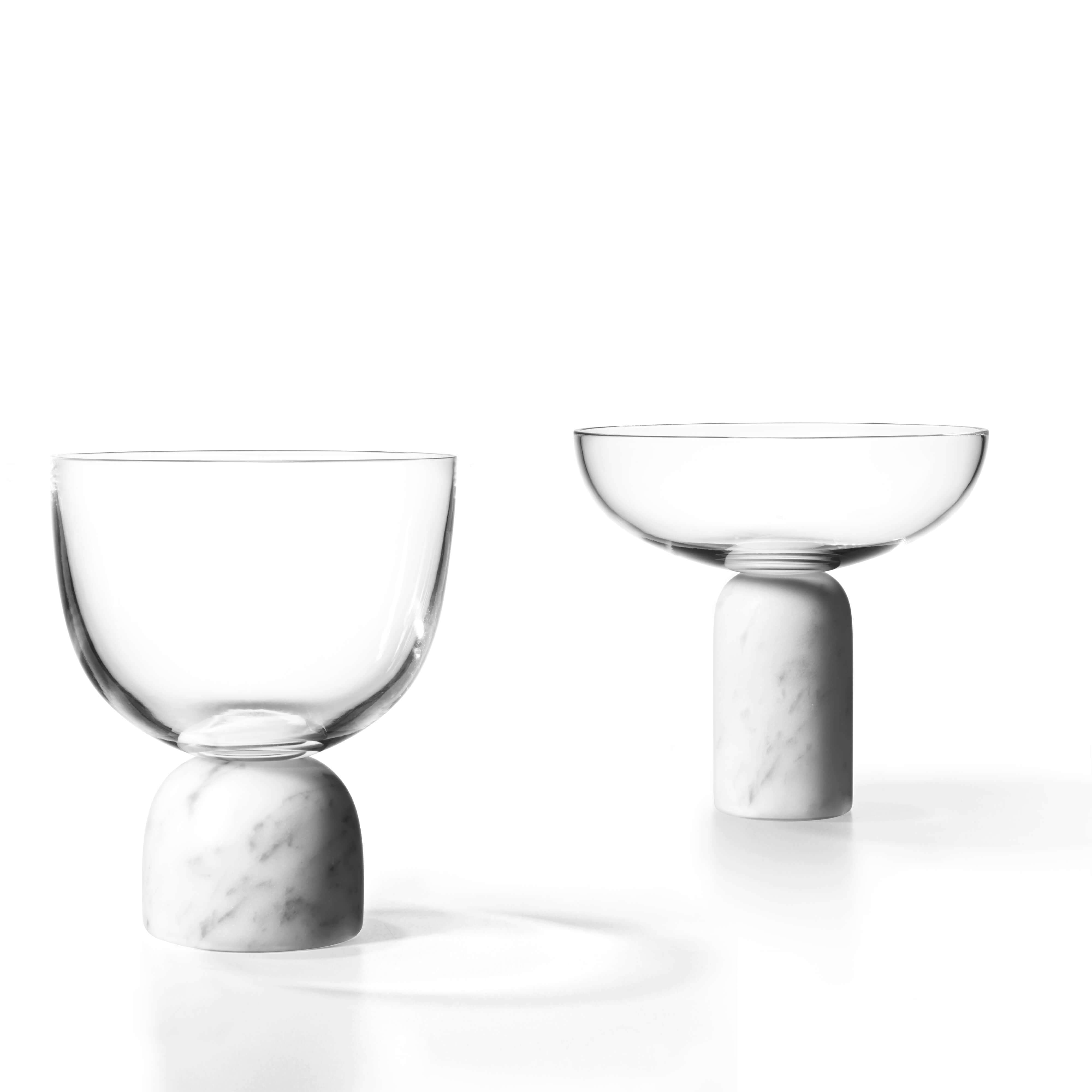 On The Rock Glassware: Wine Glass + Champagne Coupe