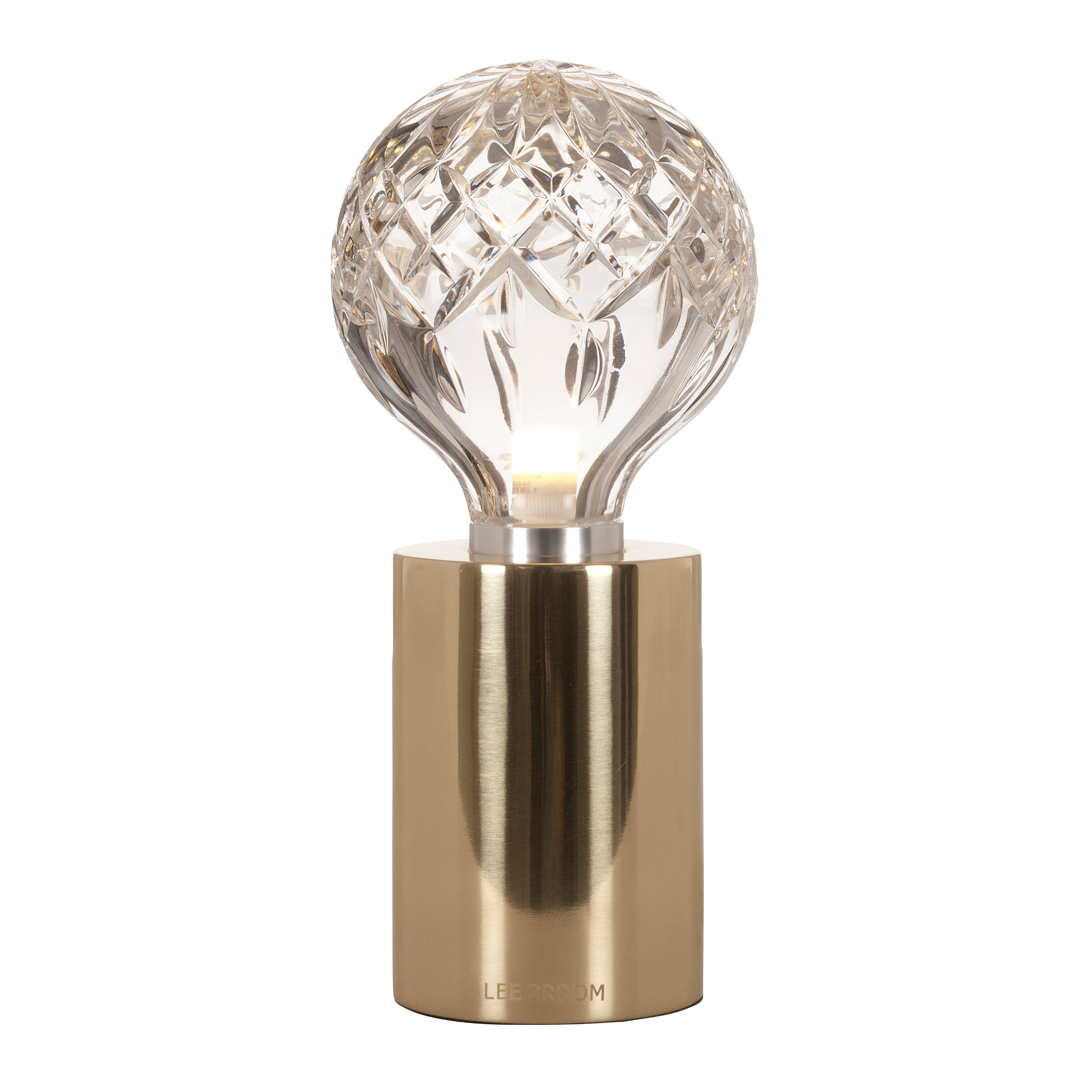Crystal Bulb Table Lamp: Clear