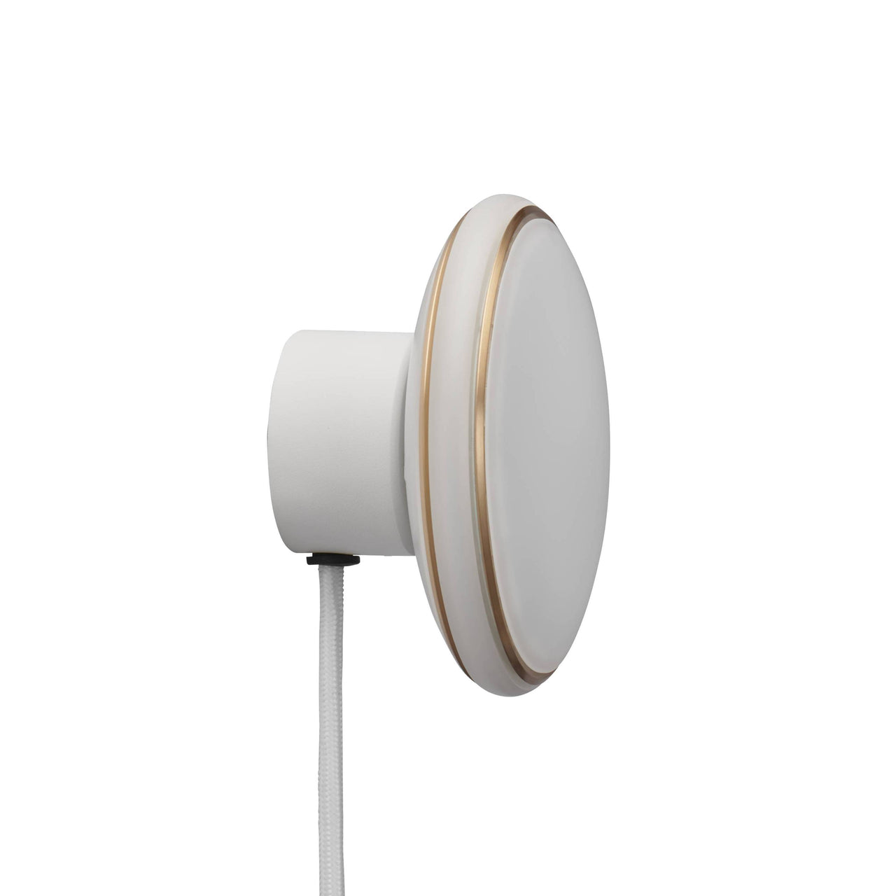 ØS1 Wall Lamp: white Brass + White + Without Node