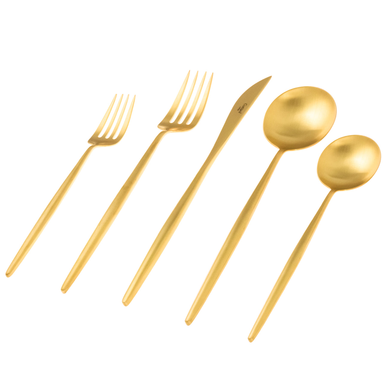 Moon Flatware: Brushed Gold