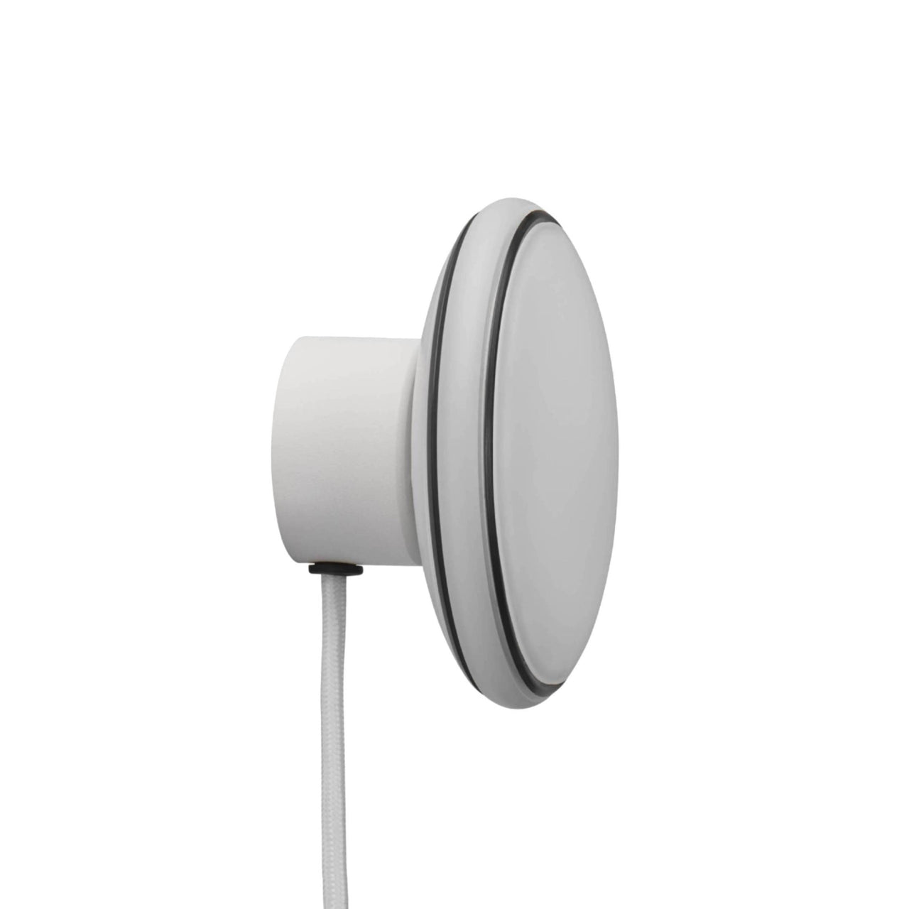 ØS1 Wall Lamp: White + Black + White + Without Node