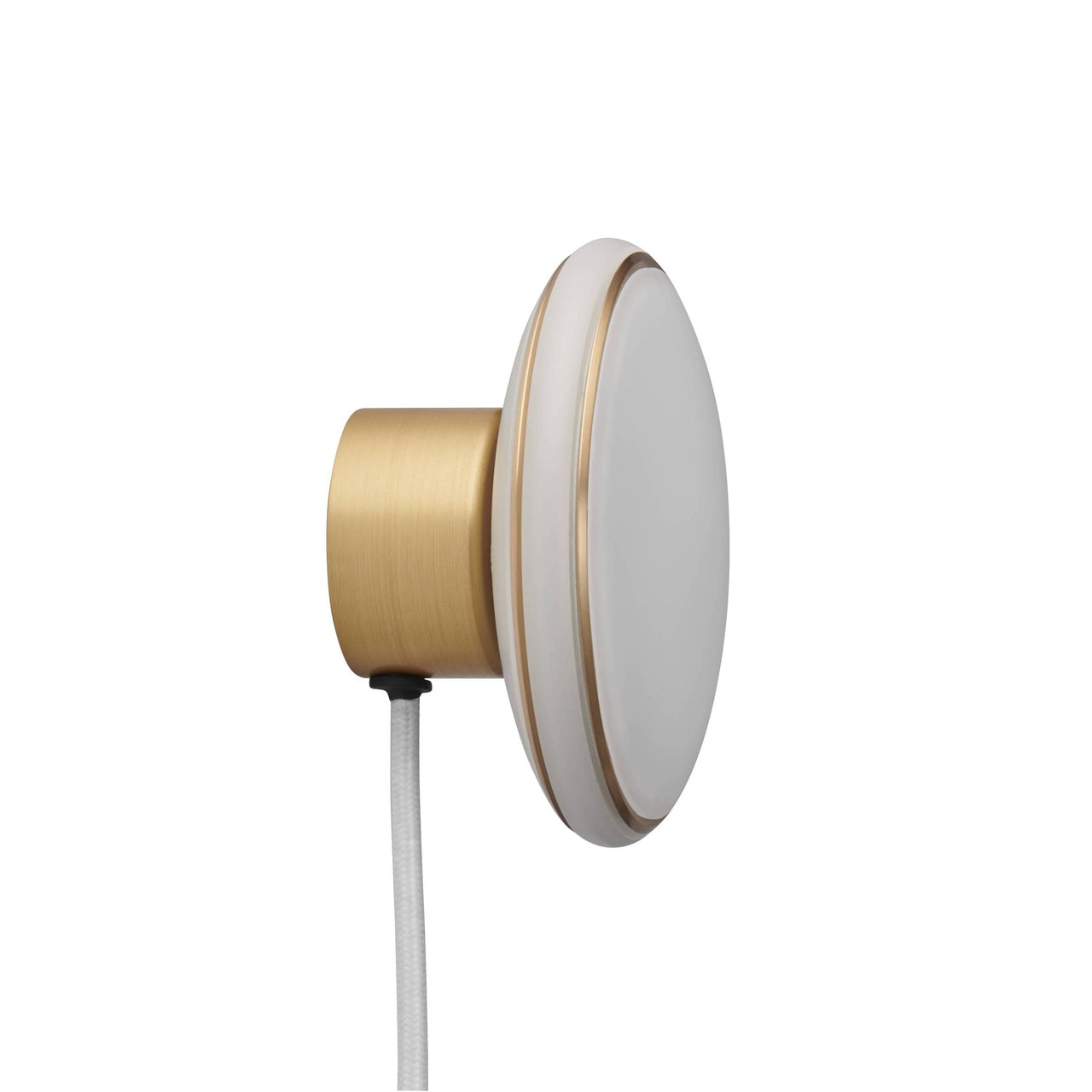 ØS1 Wall Lamp: Brass+ Brass + White + Without Node