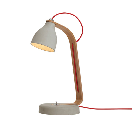 Heavy Desk Lamp: Light Grey + Oak