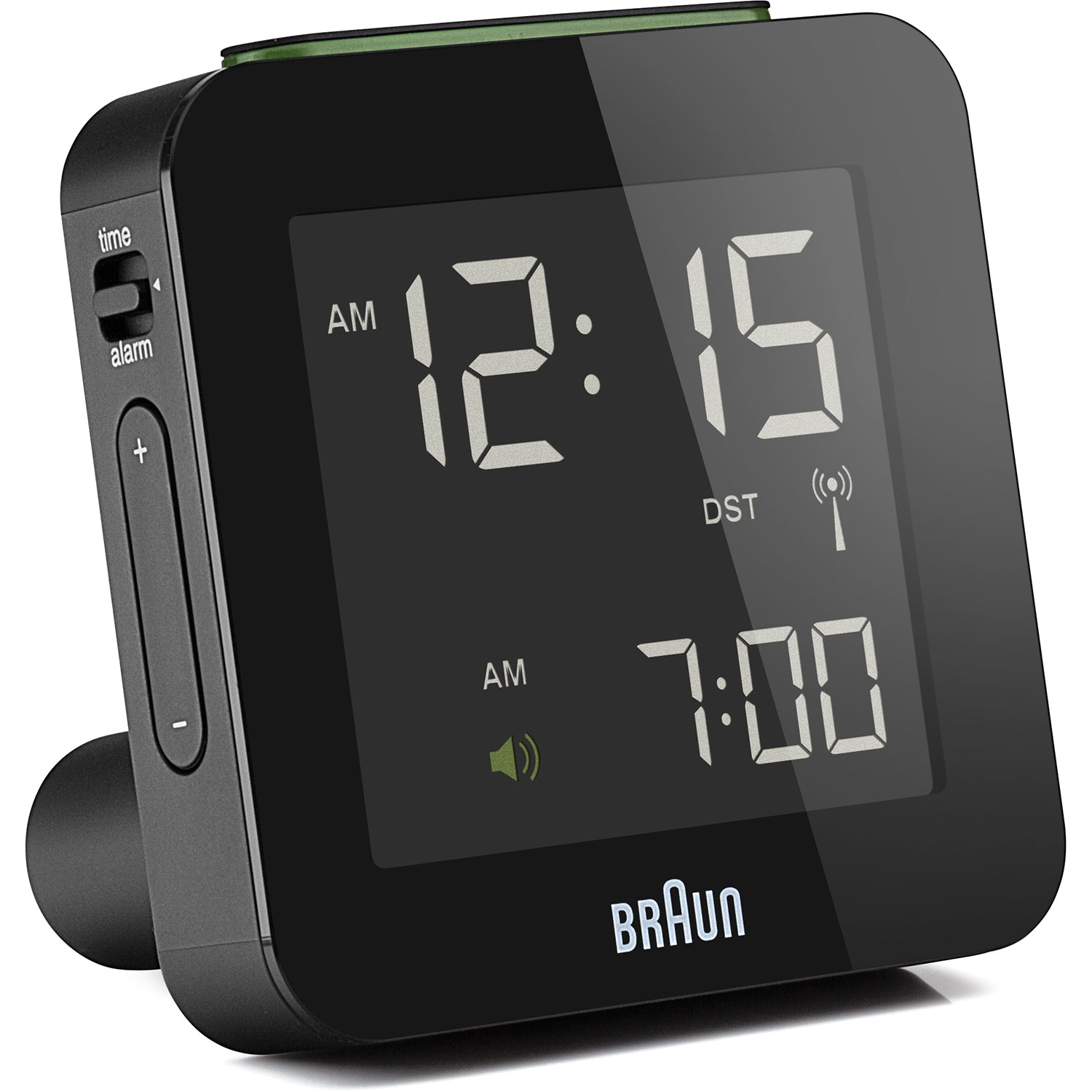 Digital Alarm Clocks BNC008 and BNC009: Small + Black