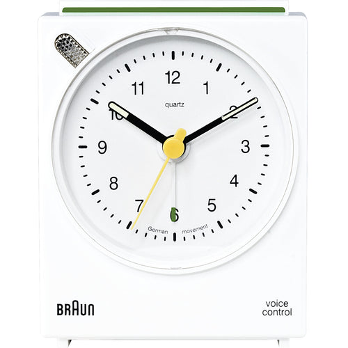 Voice-Activated Alarm Clock BNC004: White