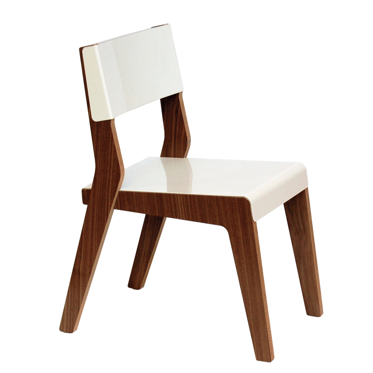 Lock Chair: White + Walnut