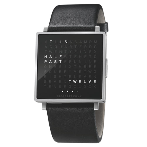 QlockTwo Wristwatch: Brushed