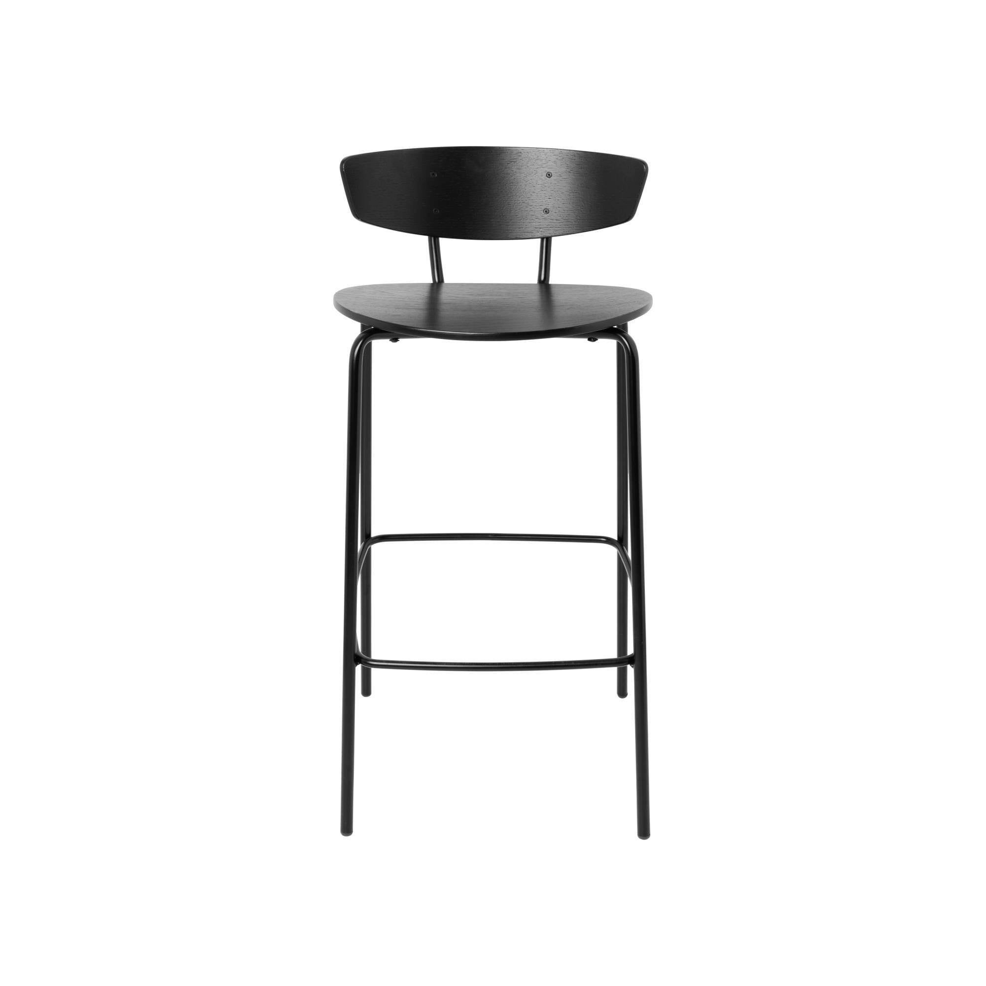 Herman Bar Chair: Black + Low