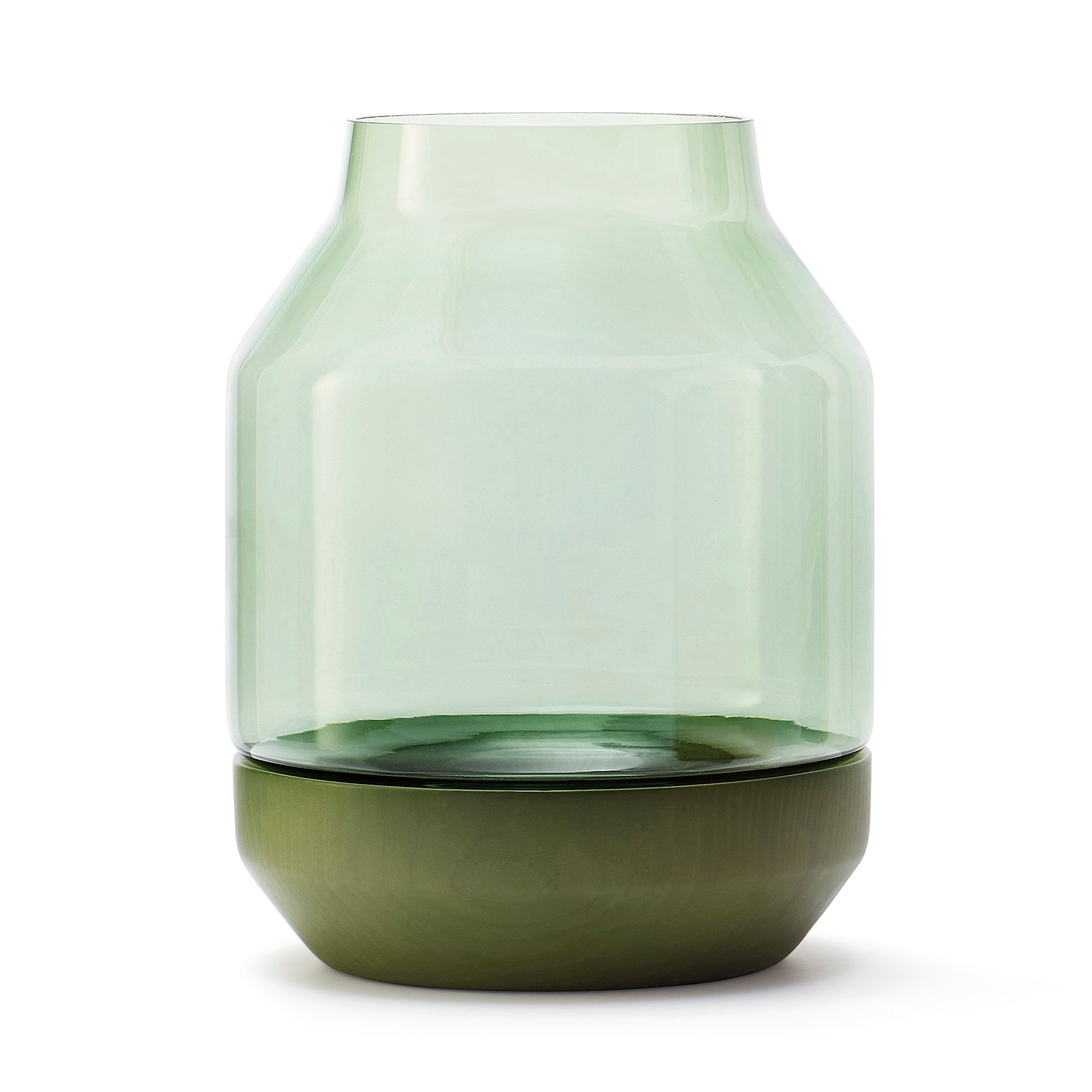 Elevated Vase: Green