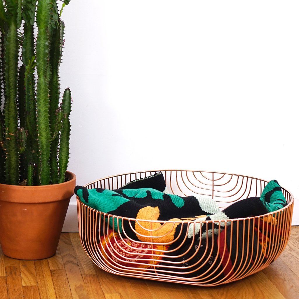 Oversize Wire Basket: Metallic