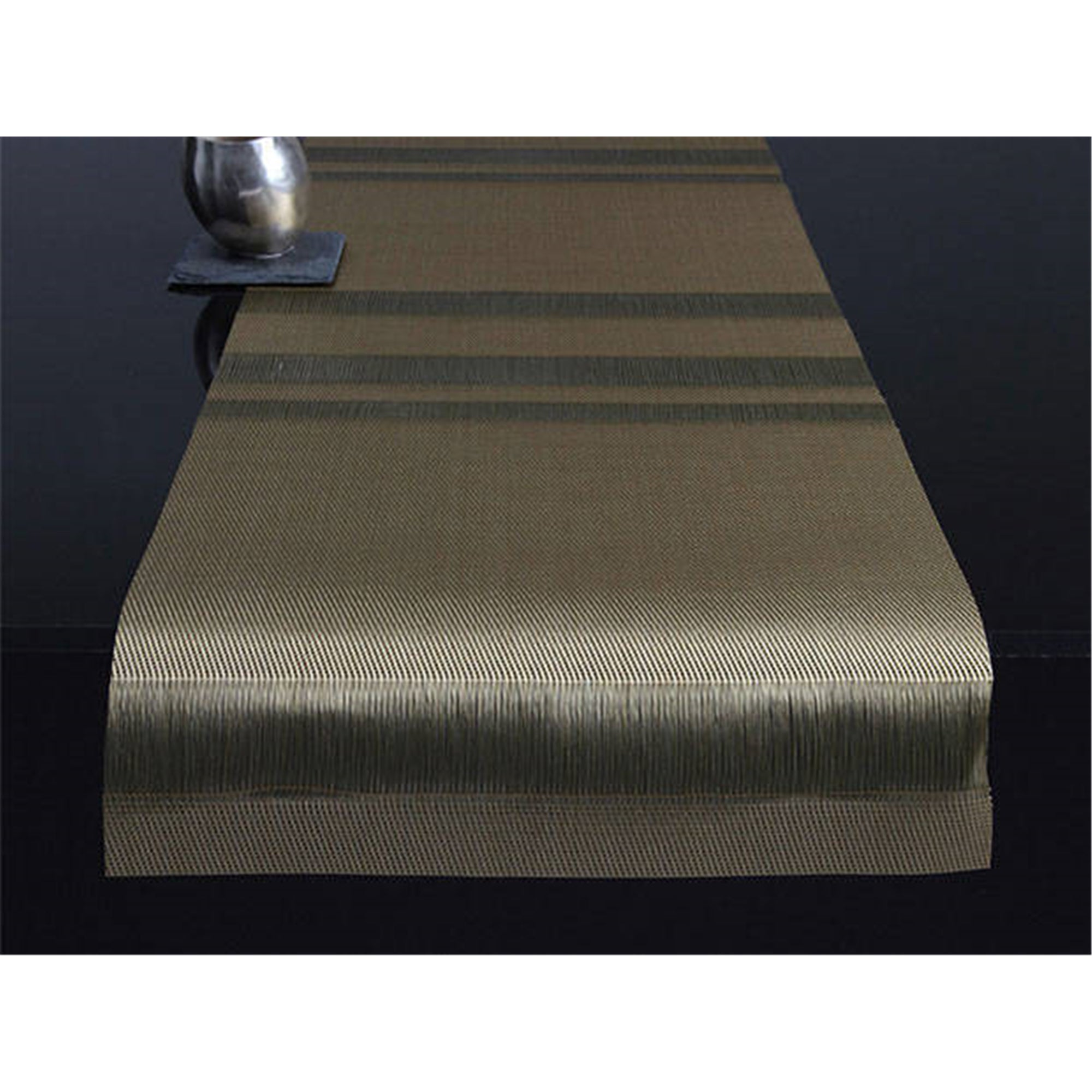 Tuxedo Stripe Placemats + Table Runners: Runner + Gold