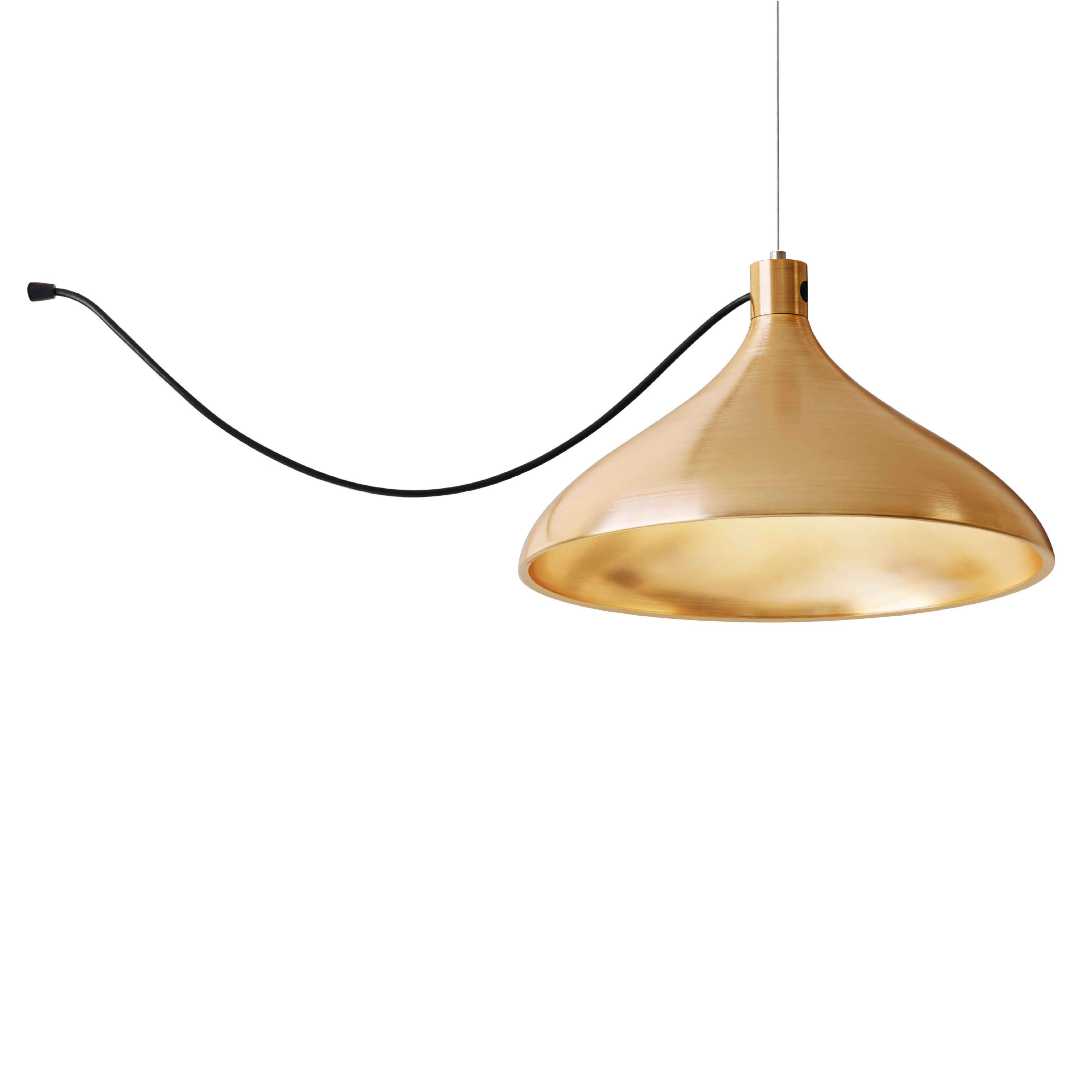 Swell String Indoor/Outdoor Pendant Light: Brass