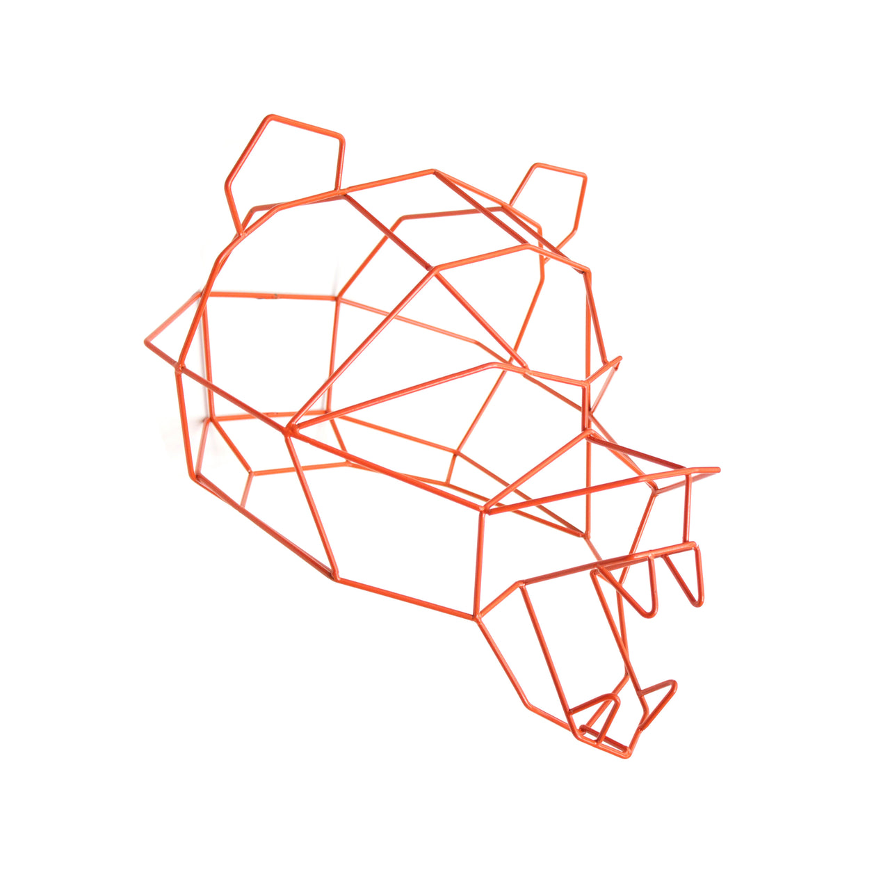 Polar Bear Trophy Head: Orange