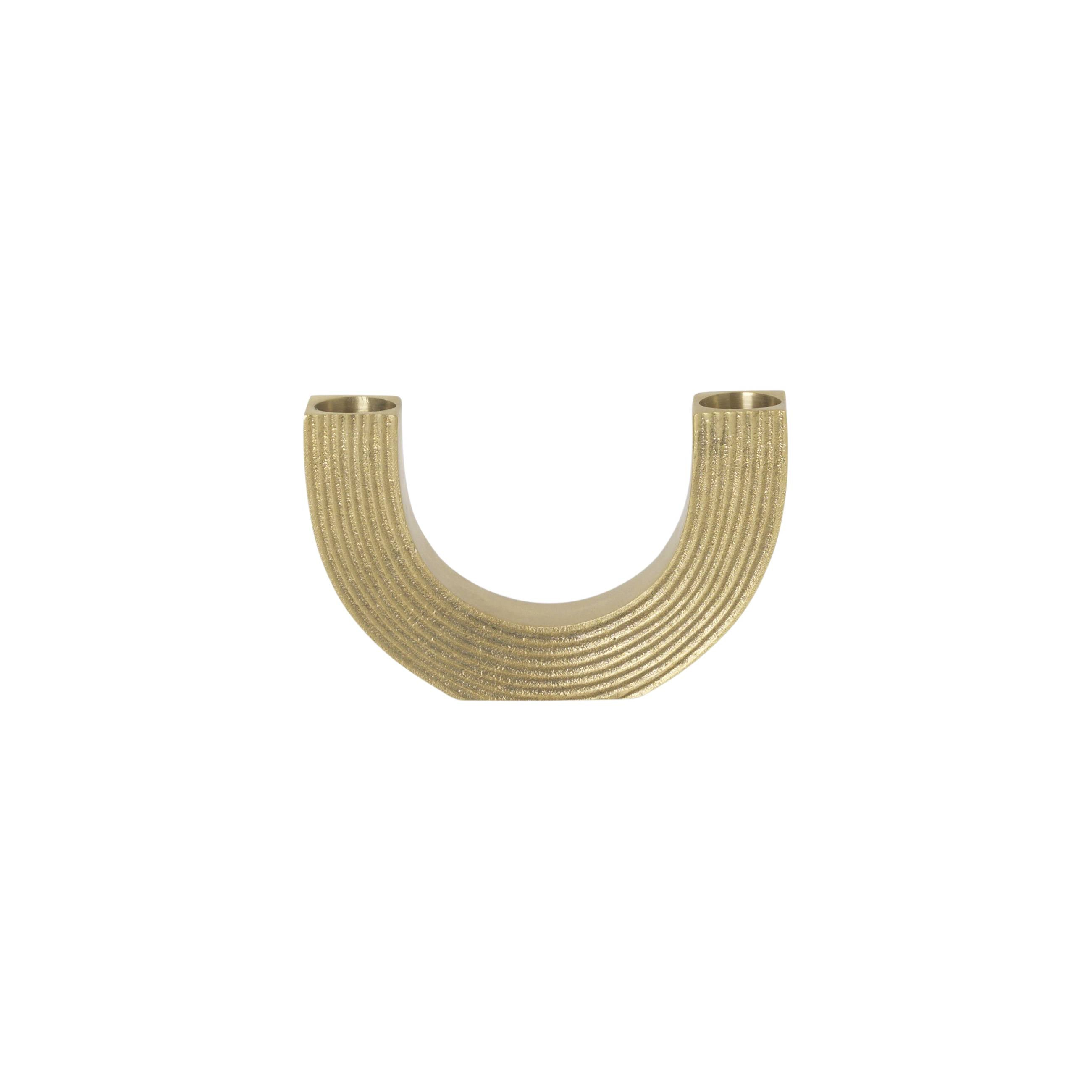 Arch Candle Holder: Brass