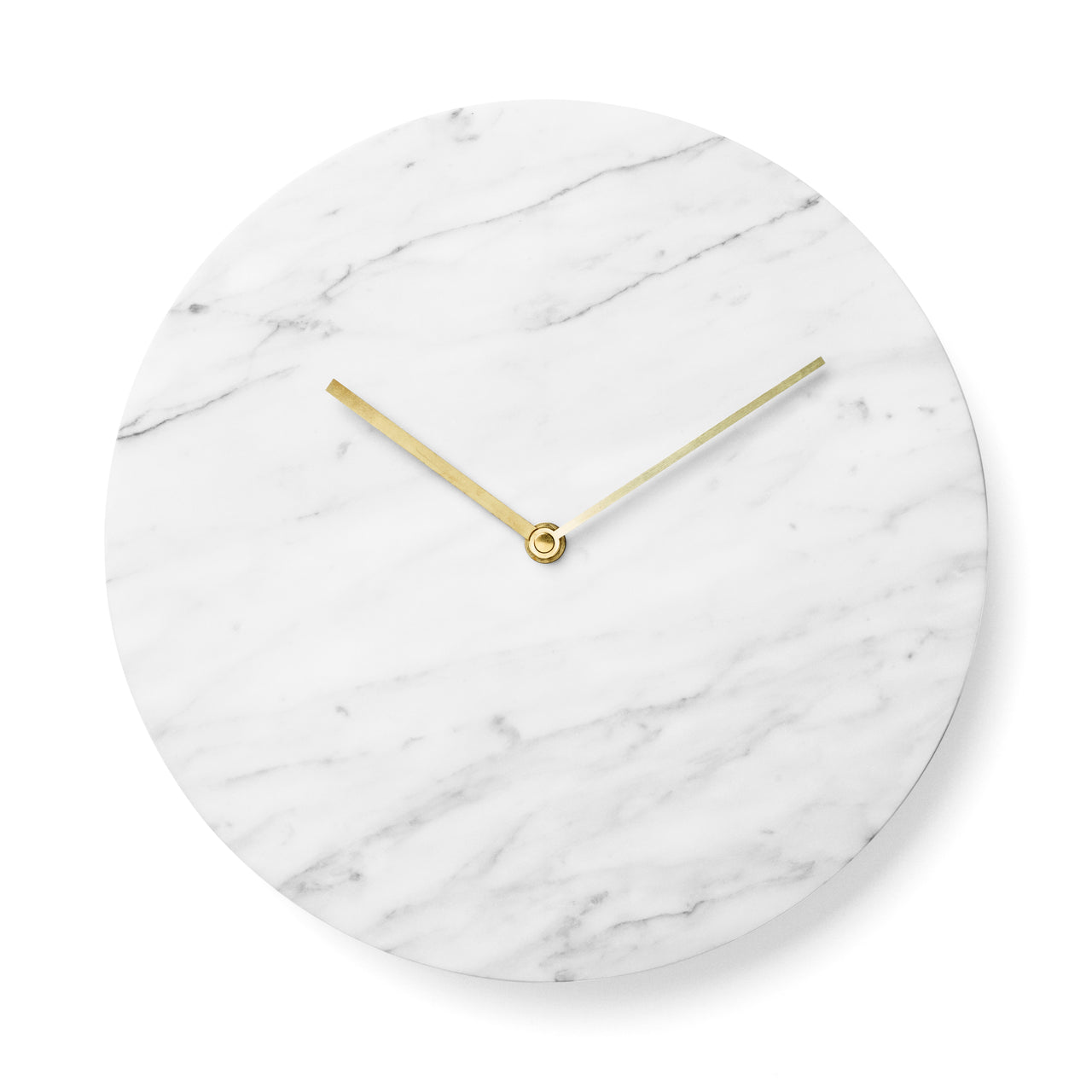 Marble Wall Clock: White