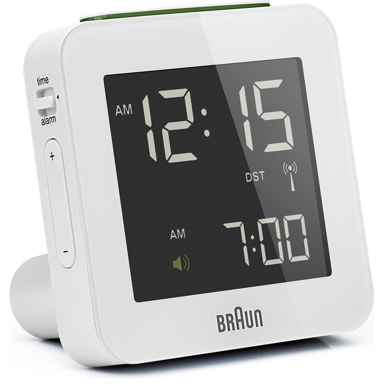 Digital Alarm Clocks BNC008 and BNC009: Small + White