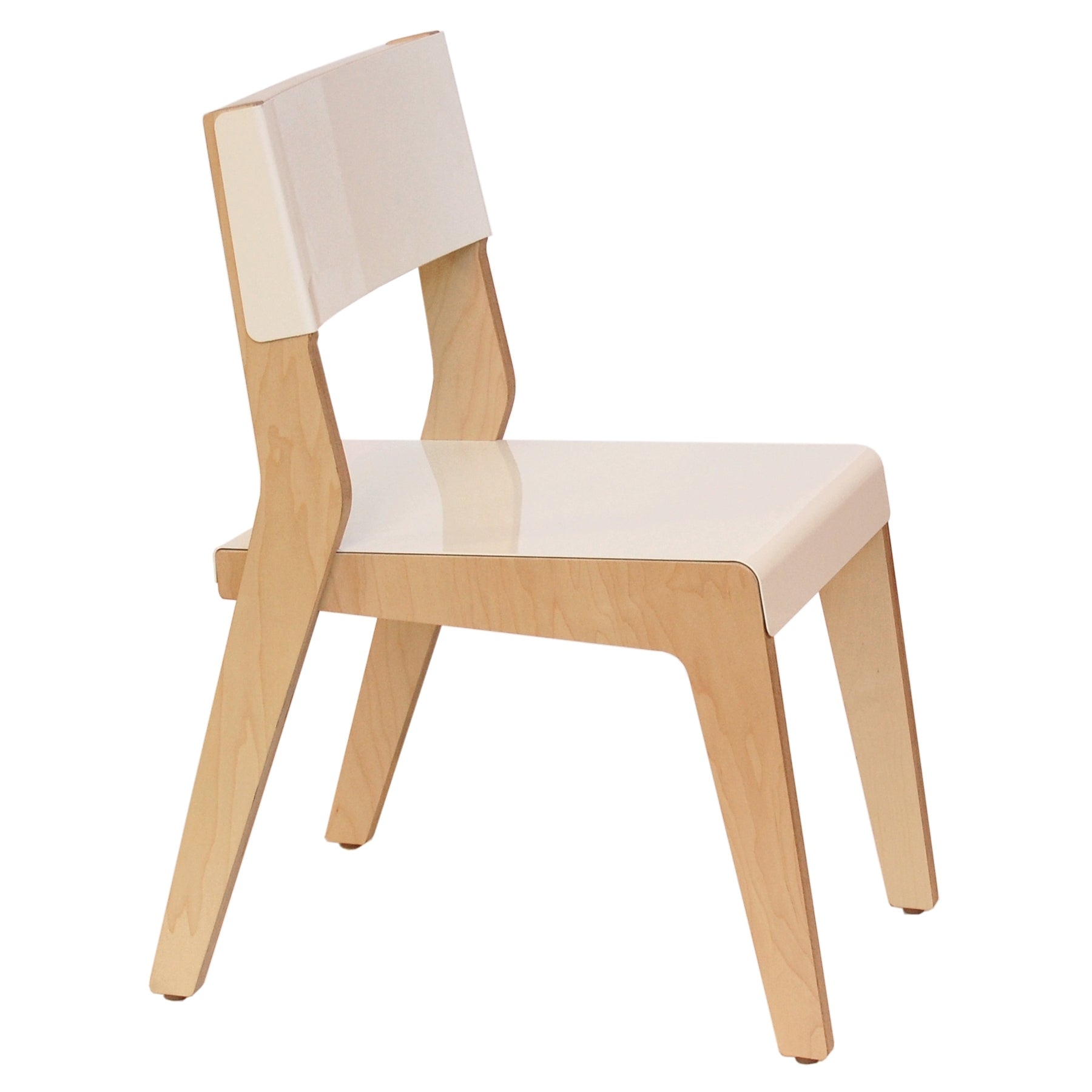 Lock Chair: White + Maple