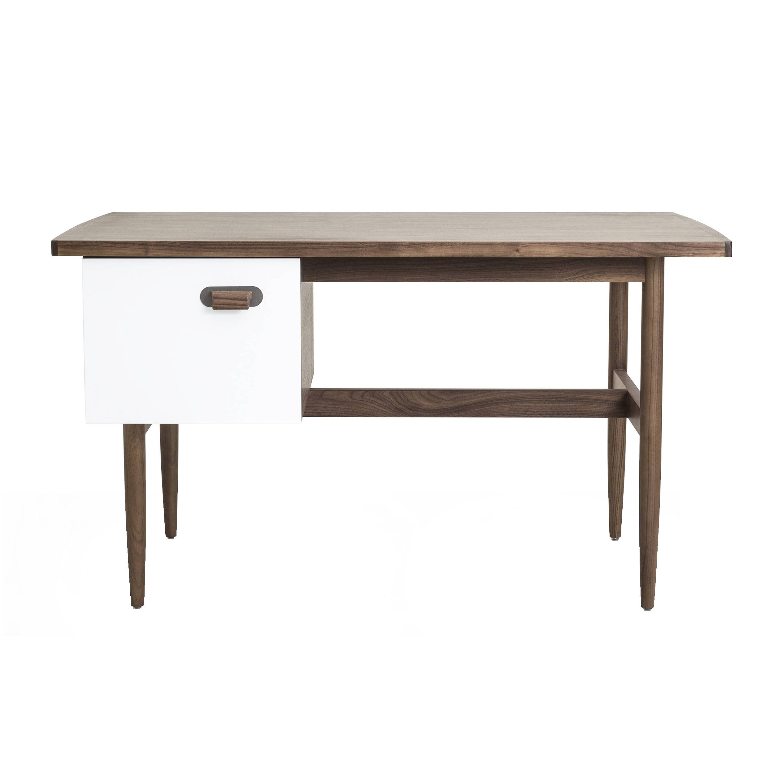 Risom Desk: Natural Walnut