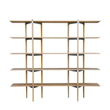 Primo Shelving System: High + Ash + Stainless steel