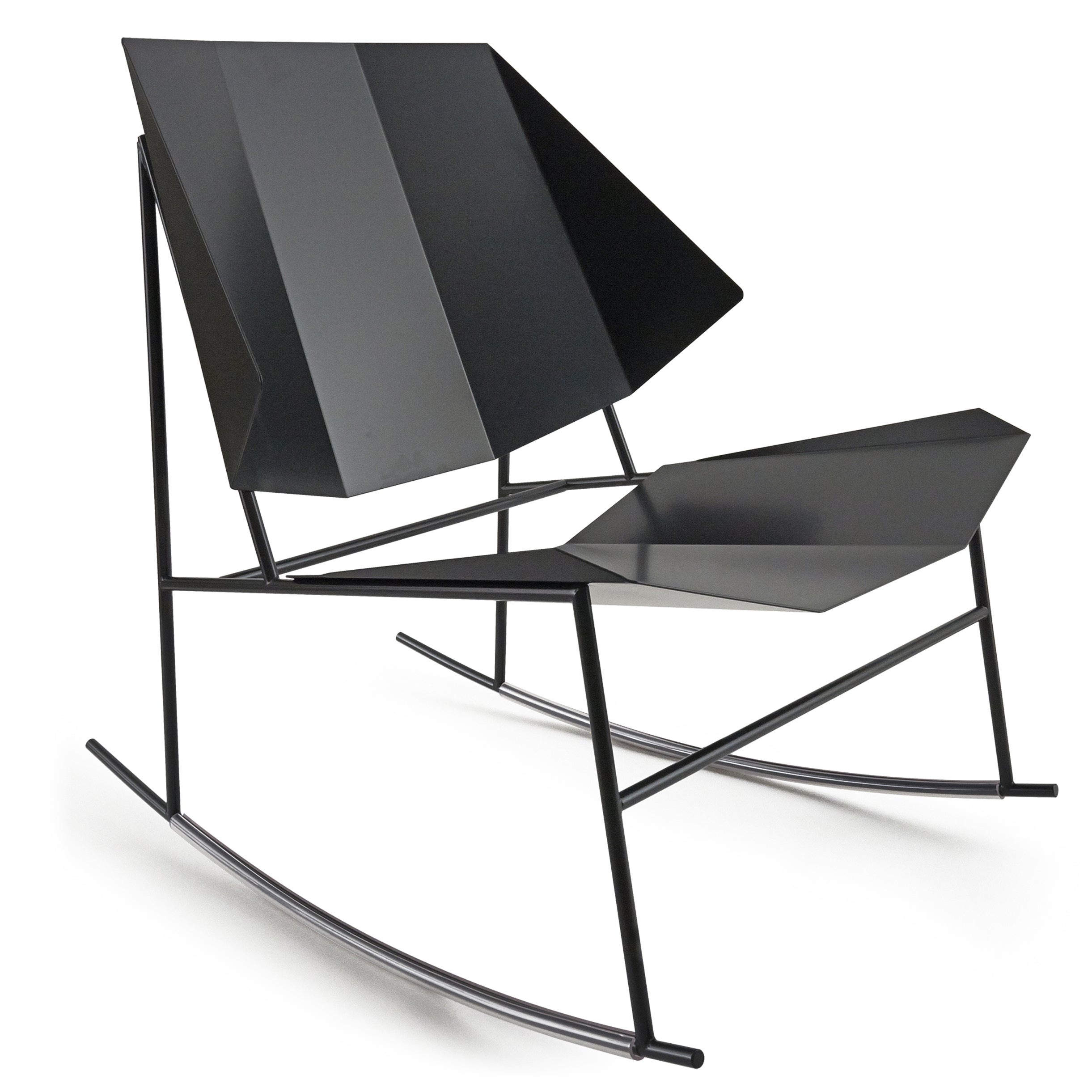 Terra Rocking Chair: Black Grey