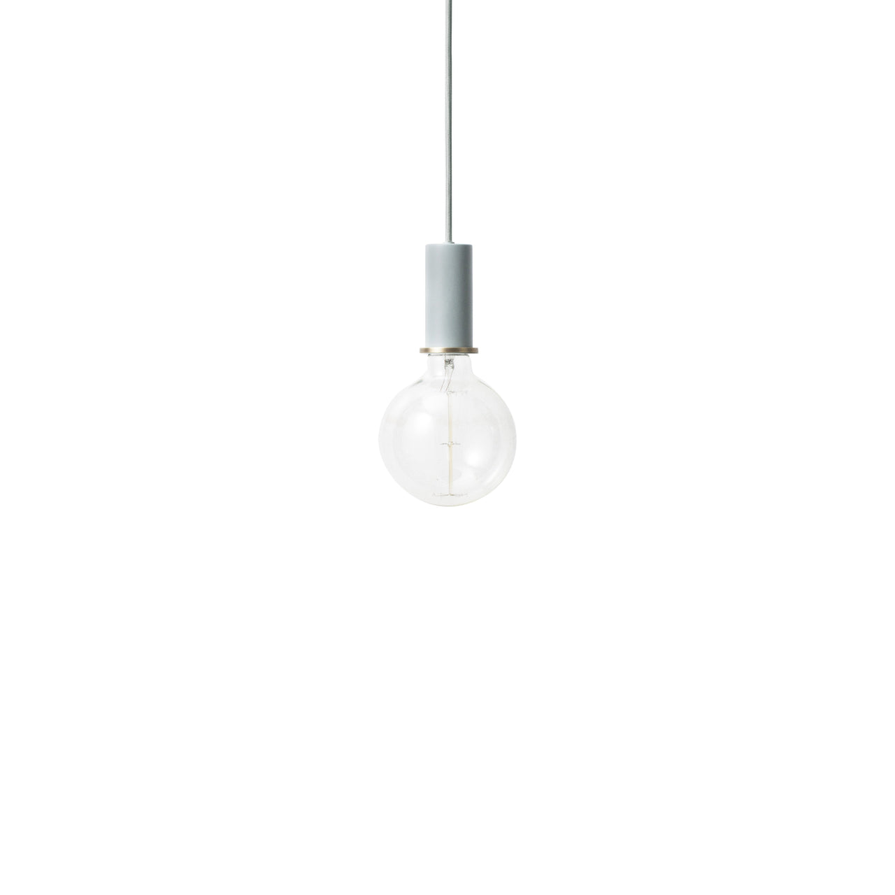 Collect Lighting: Pendant + Low + Dusty Blue