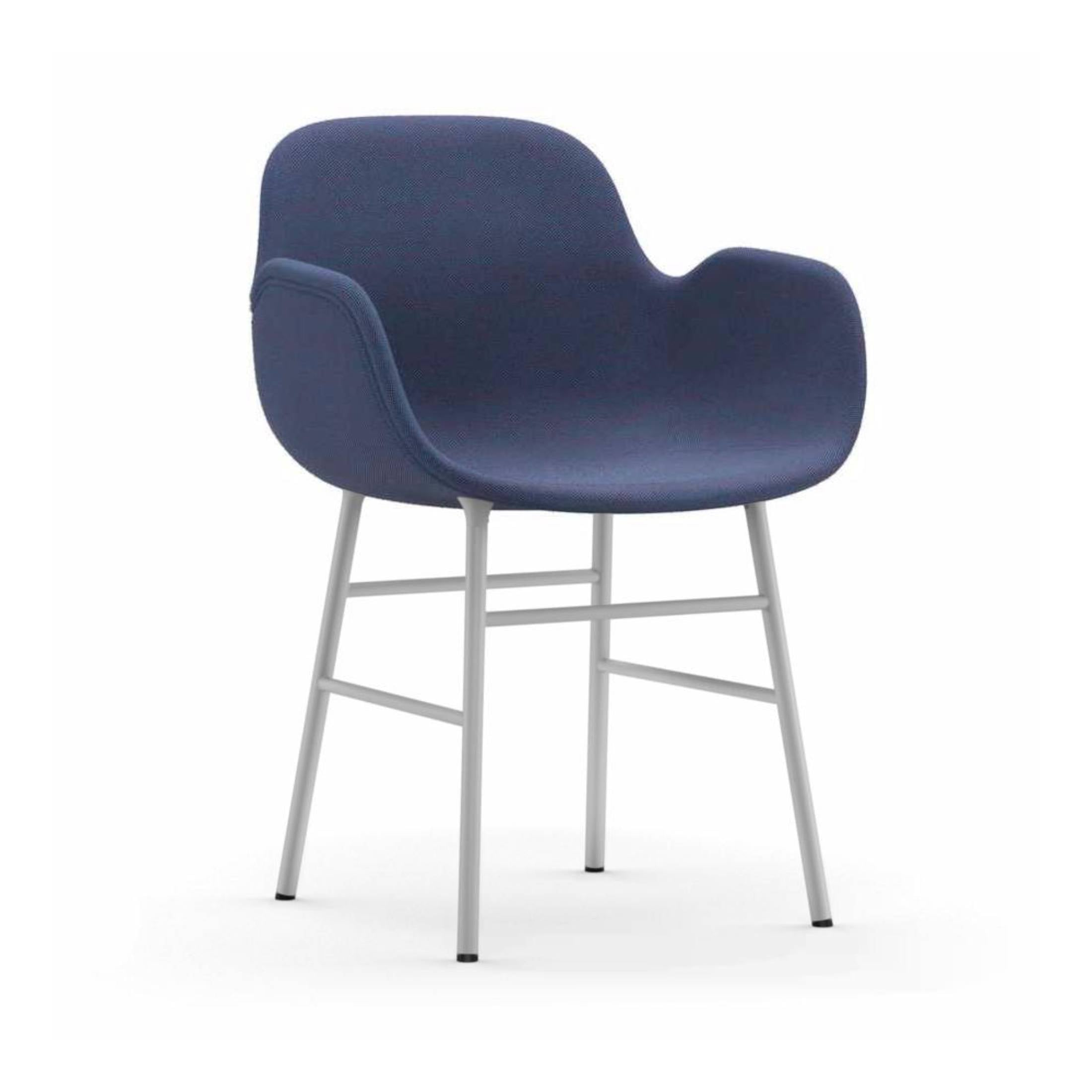 Form Armchair: Steel Legs Upholstered Shell