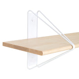 Strut Shelf + Shelving System: White + Natural Maple