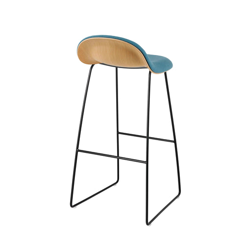 3D Bar Chair: Sledge Base + Front Upholstery