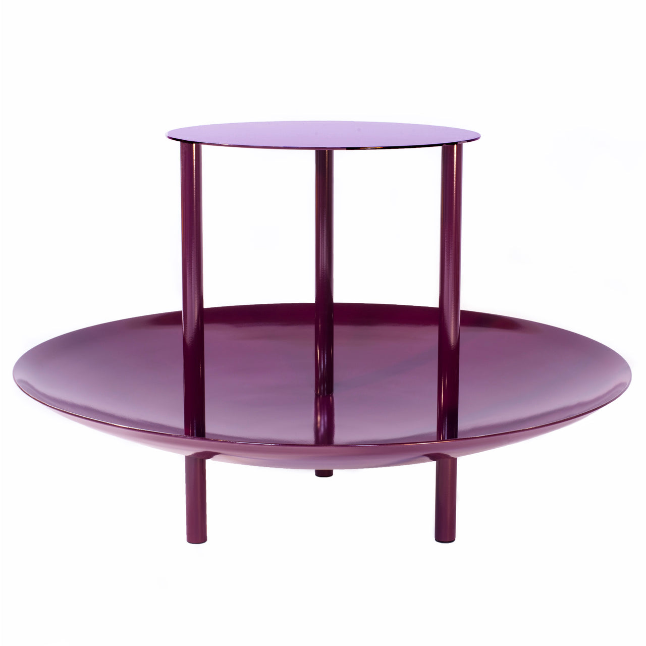 Magazine Table: Plum