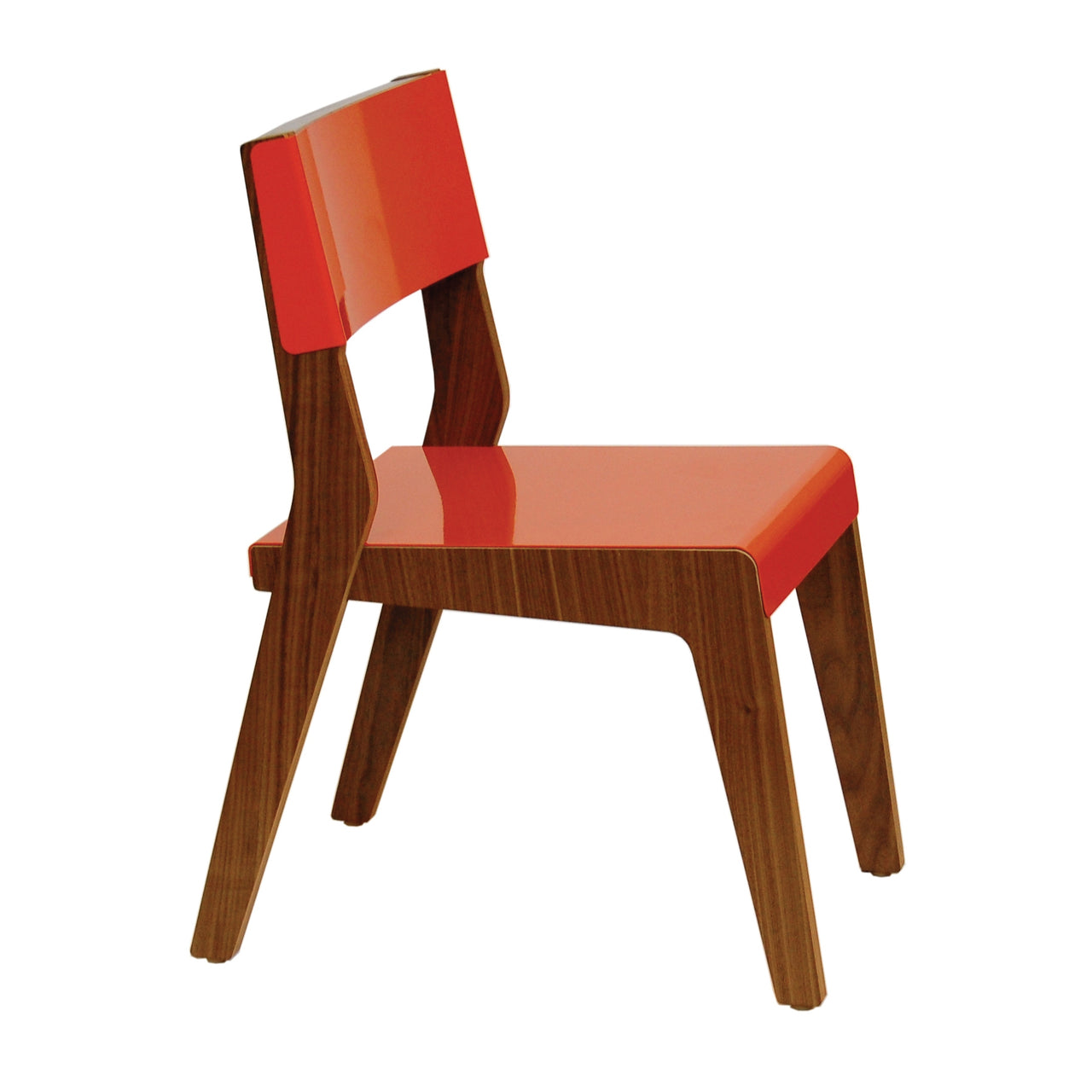 Lock Chair: Orange + Walnut