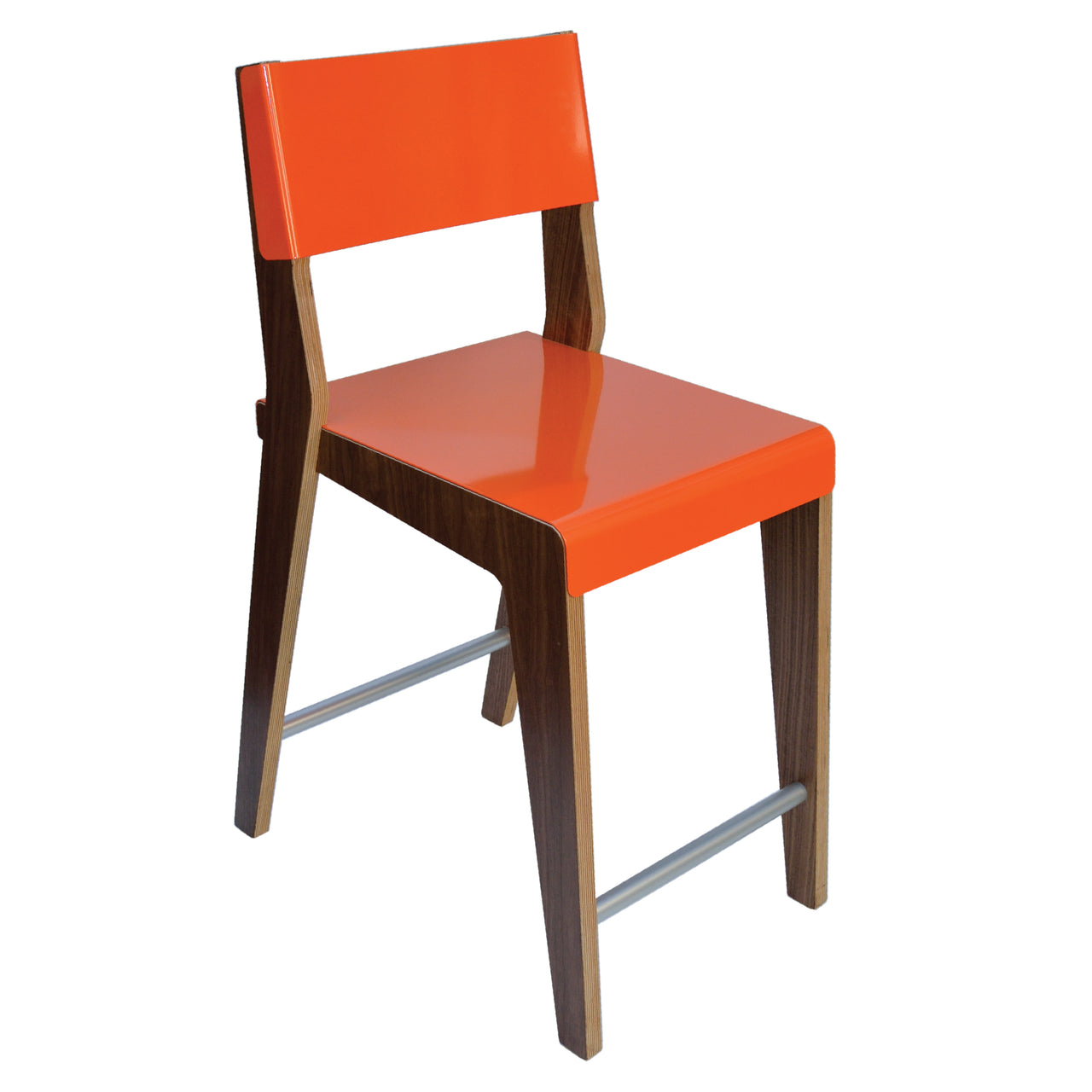 Lock Bar + Counter Stool: Counter + Orange + Walnut