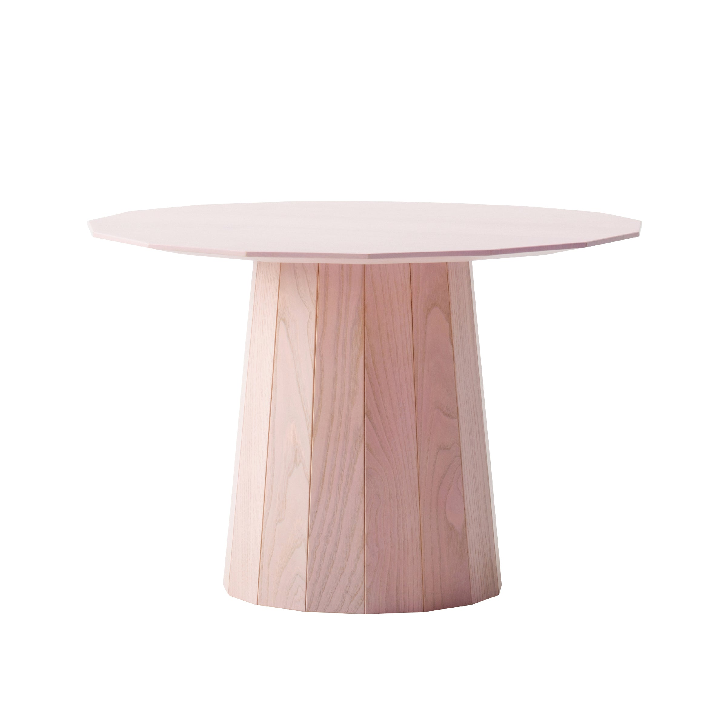 Colour Wood Tables: 600mm + Pink Top