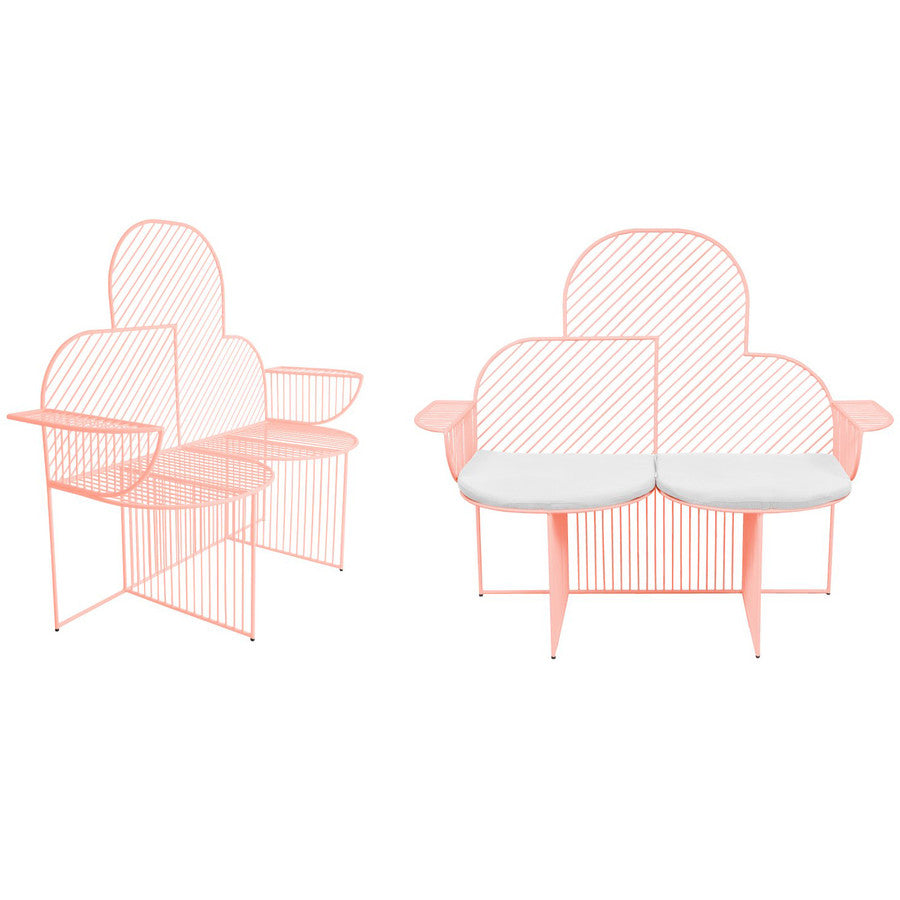 Cloud Bench: Peachy Pink (seat pad sold separately)