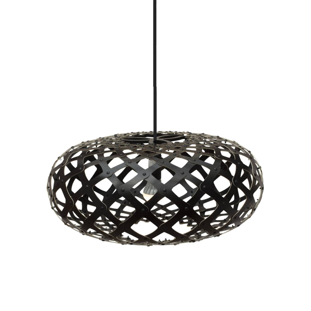Kina Pendant Light: 440 + Black Two Sides