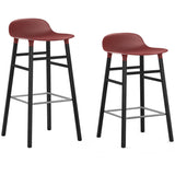Form Bar + Counter Stool: Black-Lacquered Oak