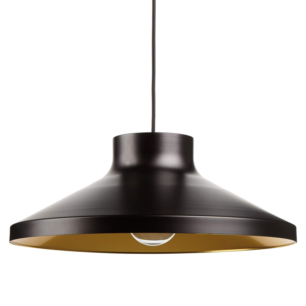 VGP1 Pendant Light: Matte Black + Brass