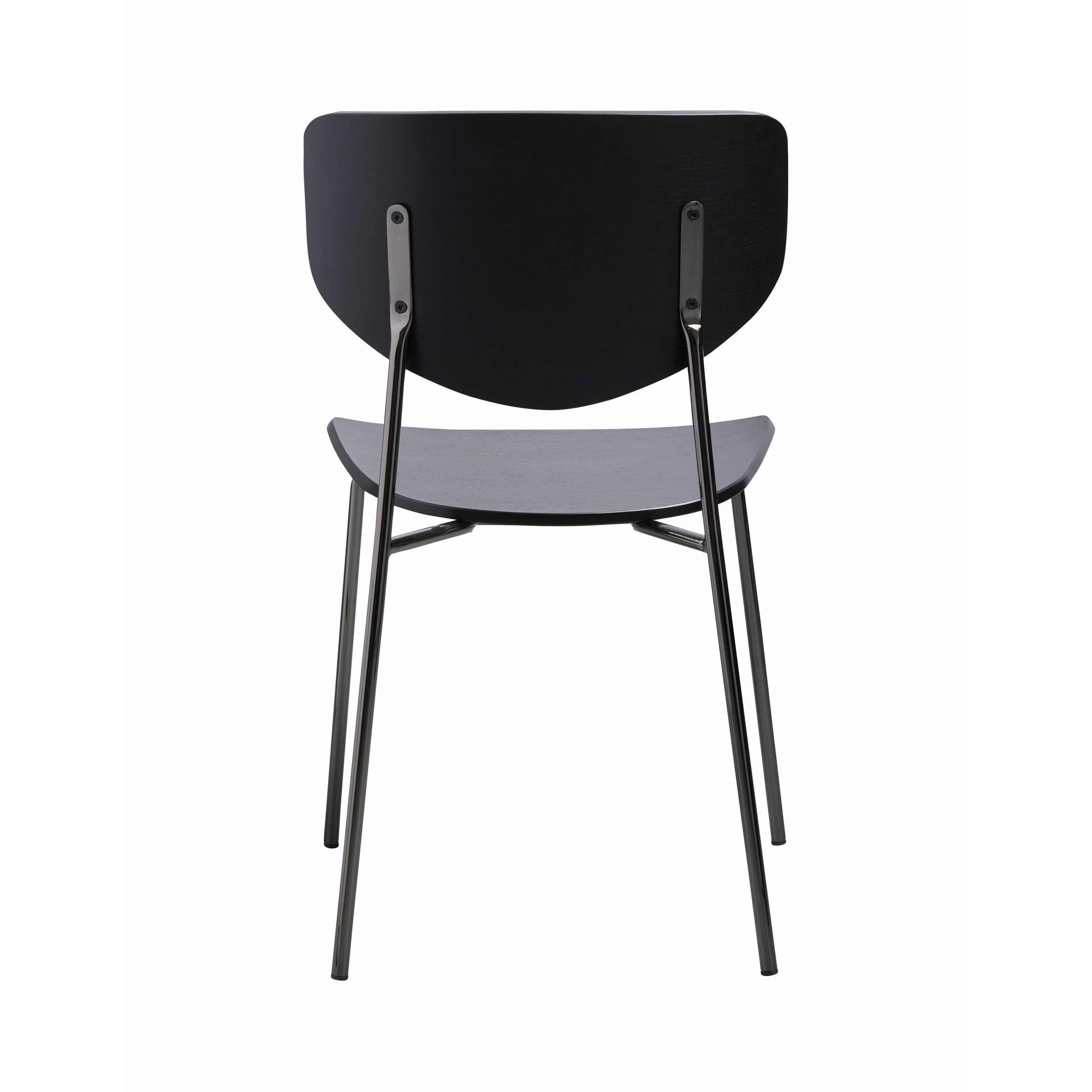 Caristo Chair: Carbon Stained Ash + Black Chrome