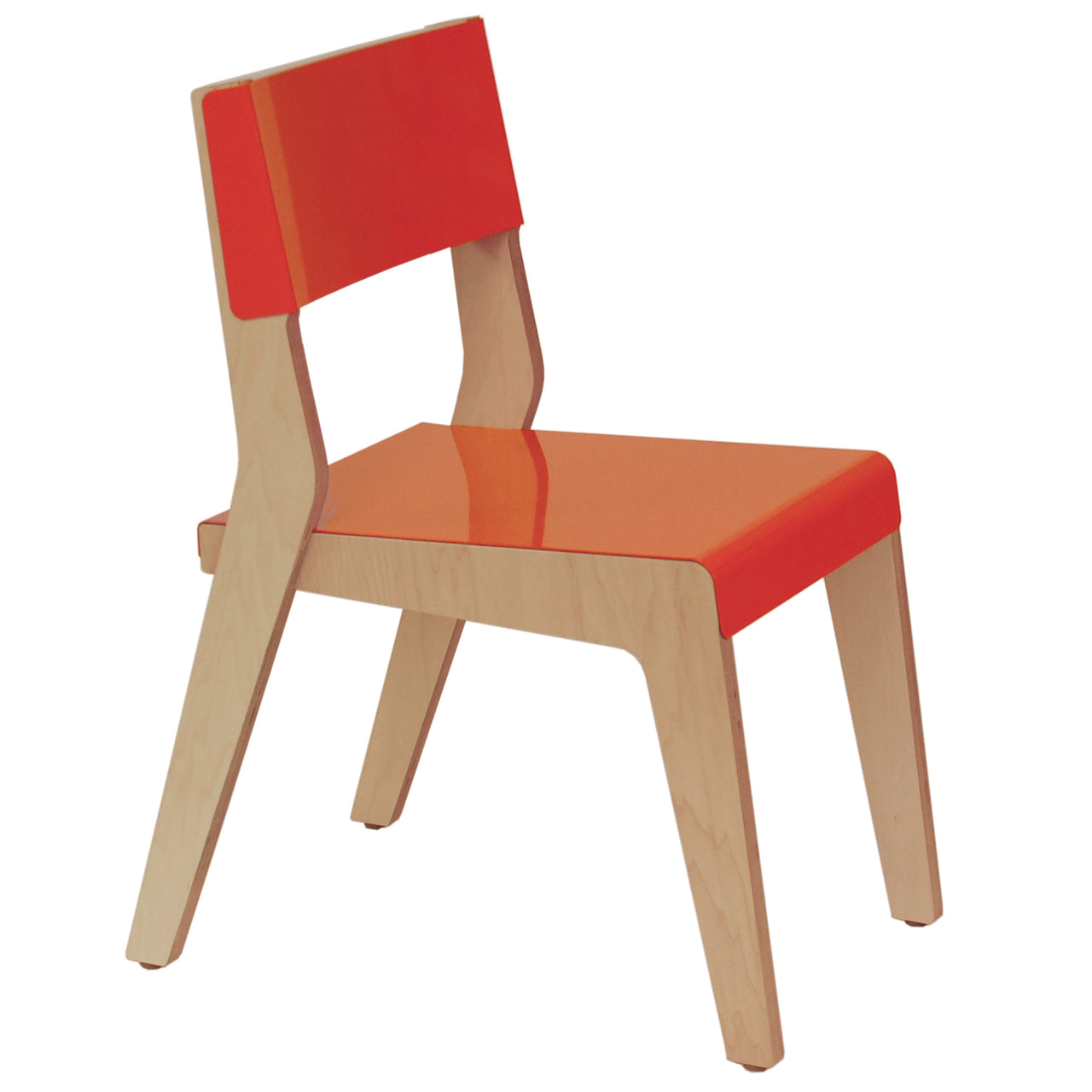 Lock Chair: Orange + Maple