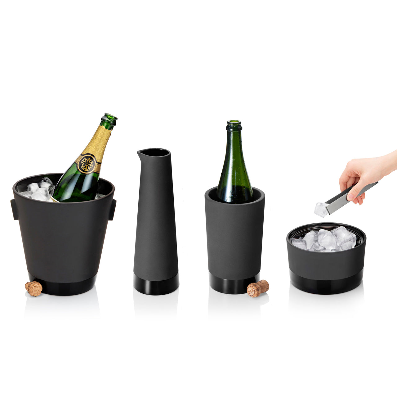 Naturally Cooling Ceramic Champagne Cooler