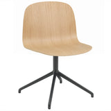 Visu Wide Chair: Swivel Base + Oak + Black