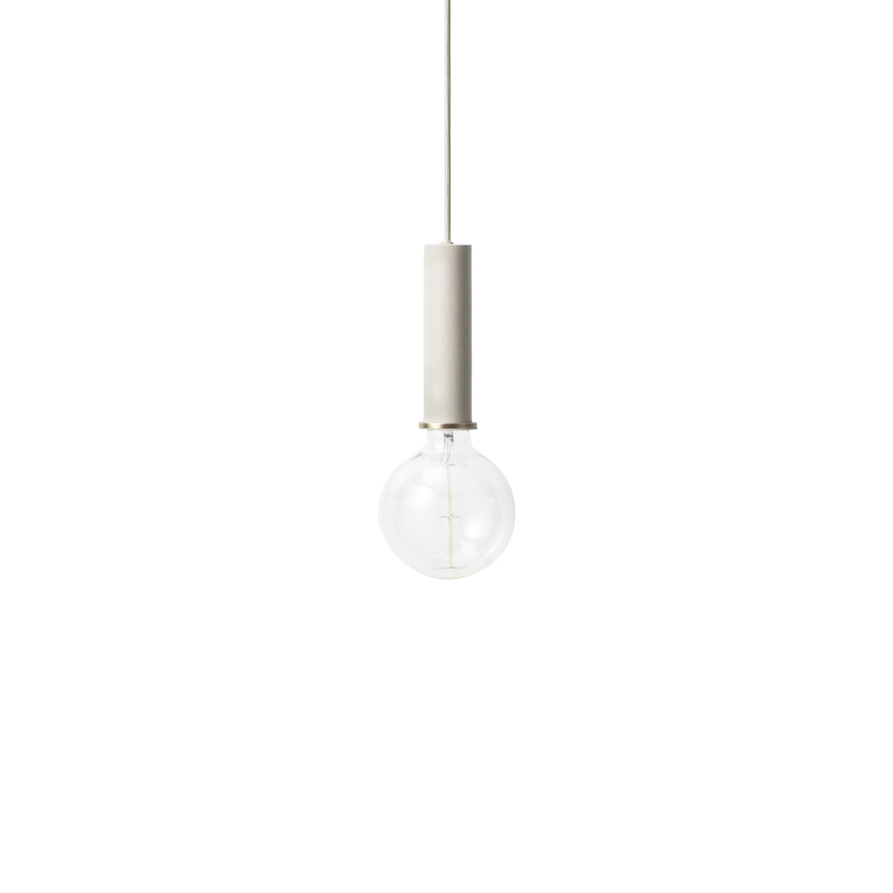 Collect Lighting: Pendant + High + Light Grey