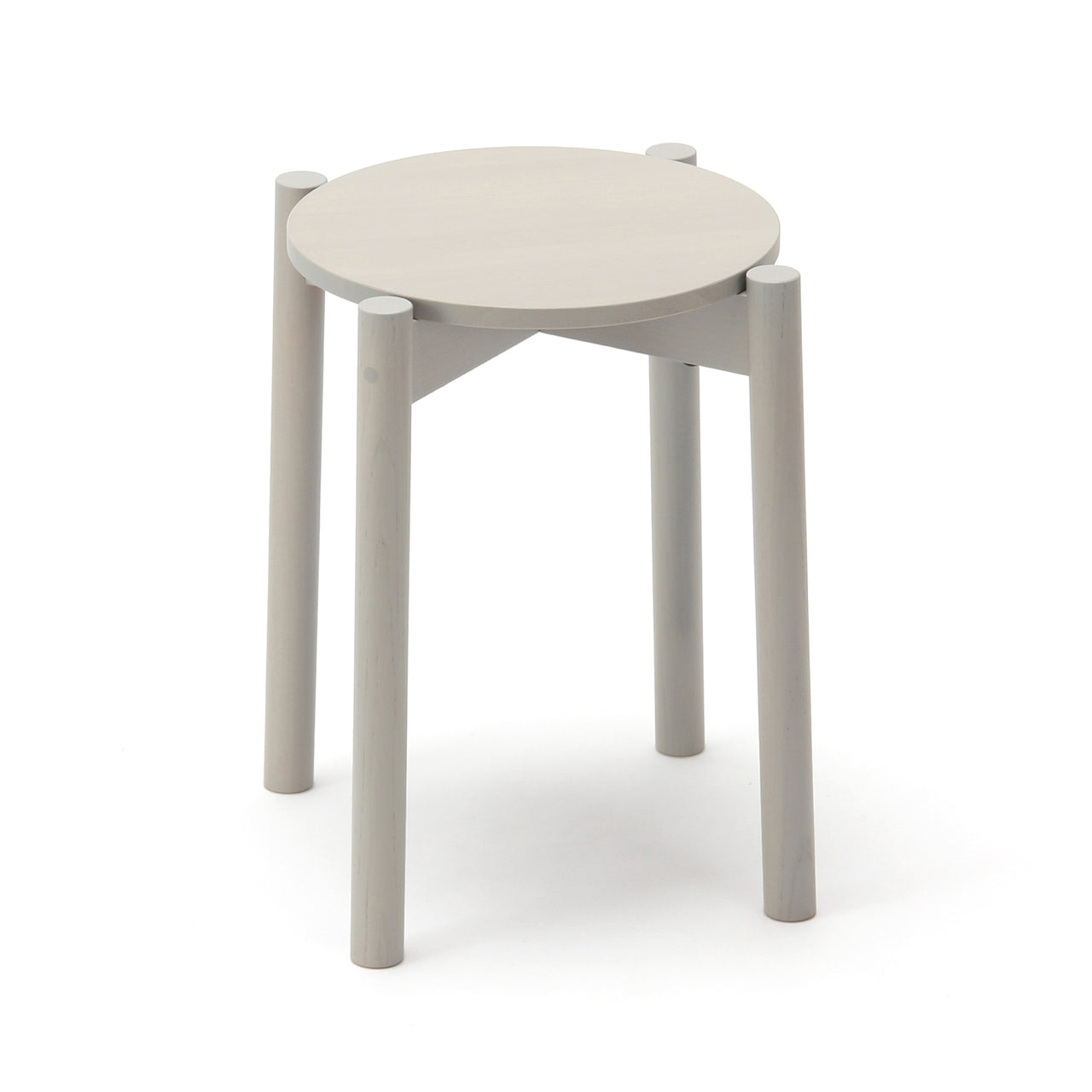 Castor Stool Plus: Grain Grey