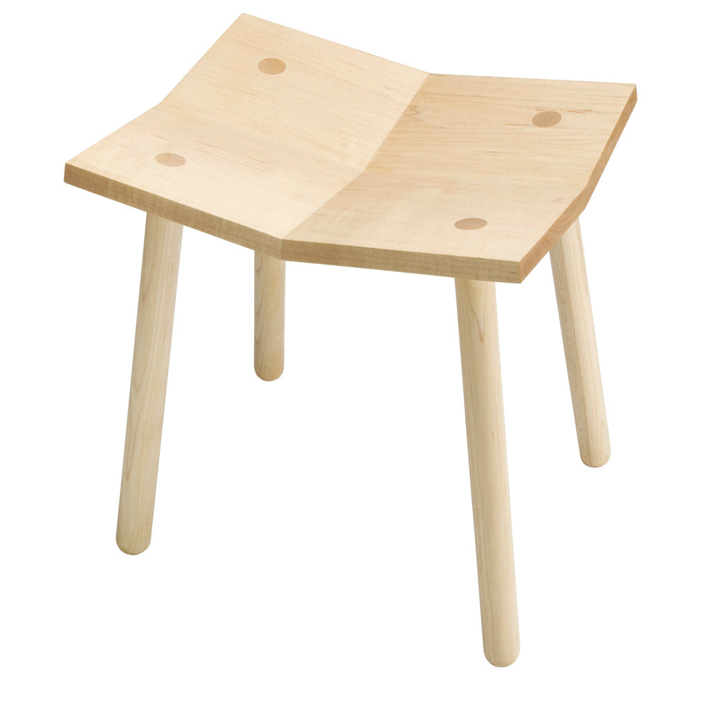 Mitre Footstool: Natural + Low