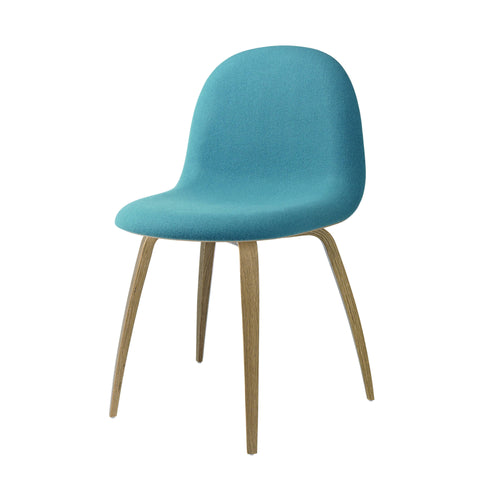 3D Dining Chair: Wood Base + Full Upholstery