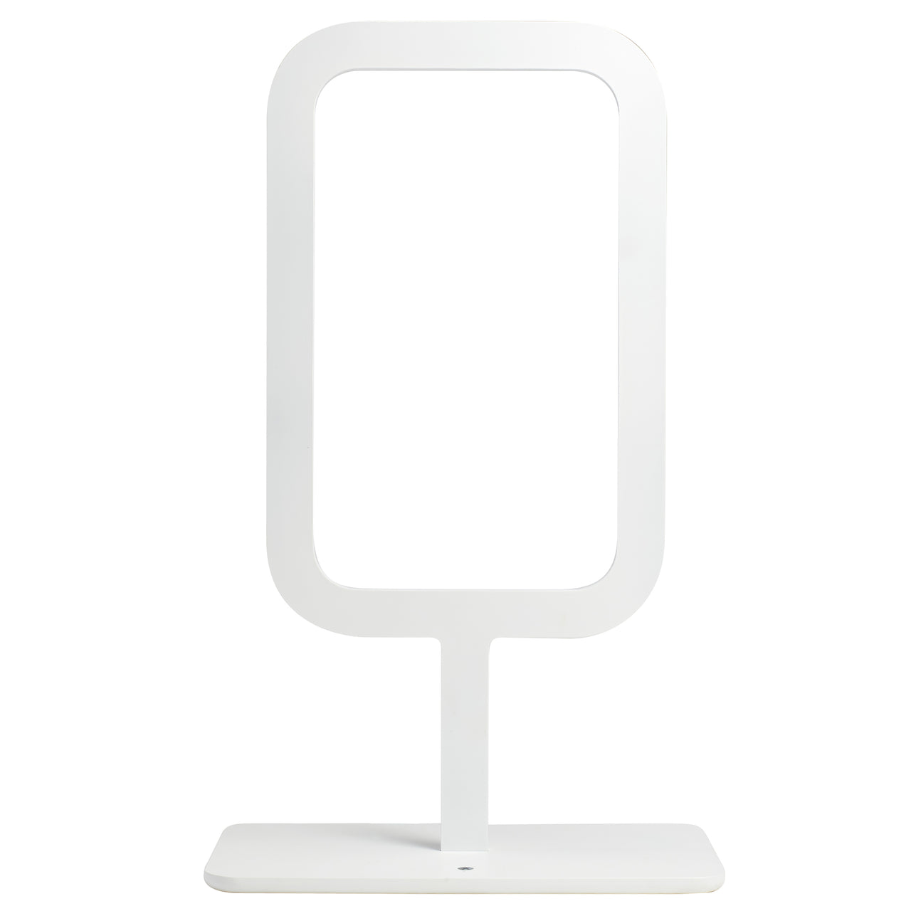 Framed Table Lamp: White