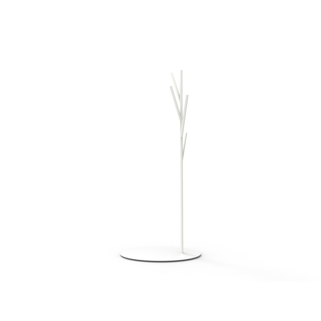 Albert Coat Rack: White + White